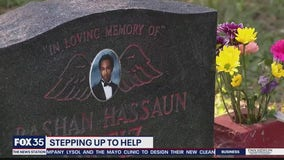 Grave site defaced by vandals