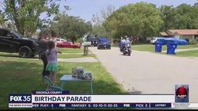 Police give girl birthday parade