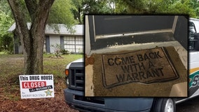 Florida deputies find drugs at house with 'come back with a warrant' doormat
