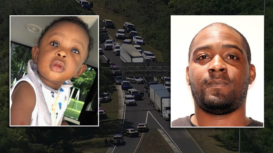 Toddler rescued after Amber Alert search ends in crash on I-4; suspect in standoff with police