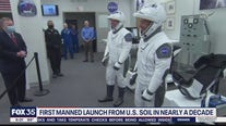 First manned launch on U.S. soil in nine years is a success
