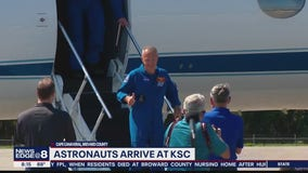 Astronauts arrive at Kennedy Space Center
