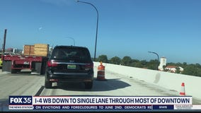 Interstate 4 construction causing congestion in Orlando