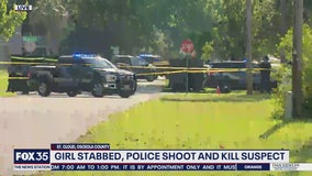 Police say suspect fatally shot after stabbing girl