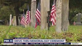 Cemetery holds drive-thru Memorial Day ceremony