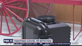 Fighting COVID-19 fog machine