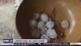 Evening storms deliver hail