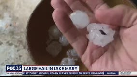 Storms bring large hail