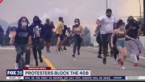 Orlando police say protesters shut down State Road 408