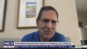 Father wants to donate late son's stimulus check to charity