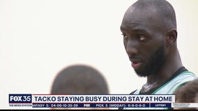 Tacko Fall staying busy lockdown