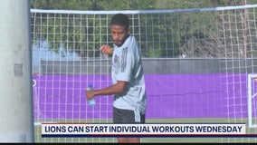 Lions can start individual workouts