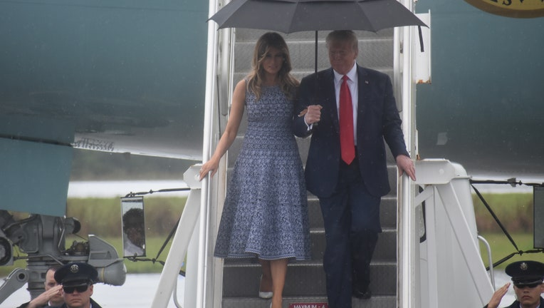 President Trump arrives in Cape Canaveral for launch