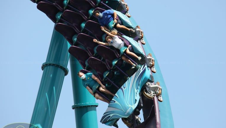 Seaworld coasters mako wearing masks