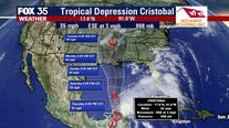 Cristobal downgraded to tropical depression