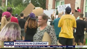 Protests held at Clermont City Hal