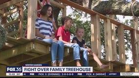 Fight over family treehouse in Winter Garden
