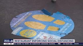 Orlando restaurant enforcing social distancing