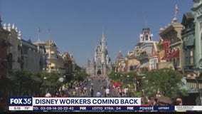 Disney workers returning to work