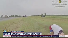 Suspect rushes deputies