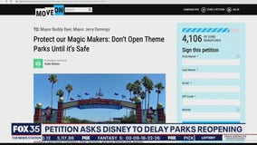 Petition asks Disney to delay parks reopening