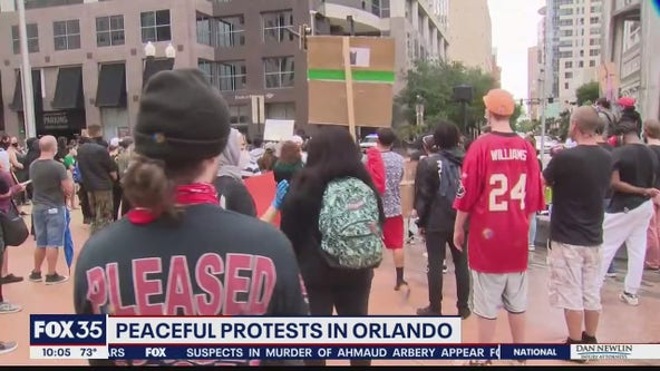 Protesters conclude another day of rallies in Orlando