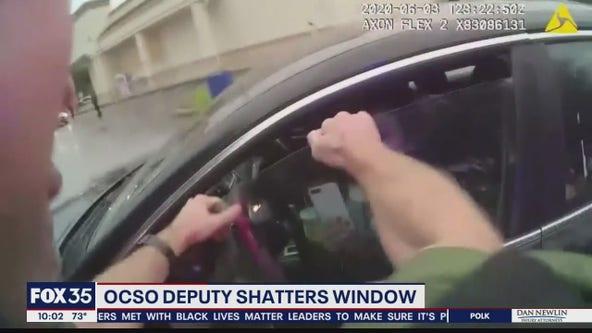 Body cam video shows deputy smash