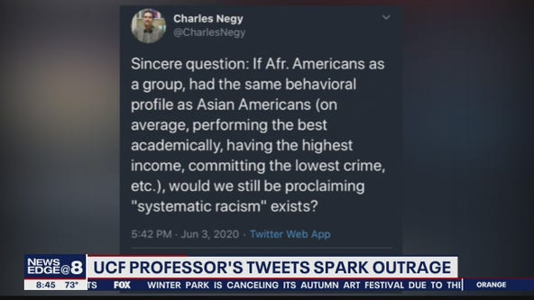 UCF professor under fire after controversial tweets about race