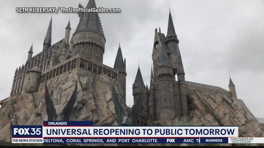 Universal Orlando reopening to the public on Friday