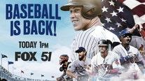 Baseball's back: Watch opening day Saturday on FOX 51