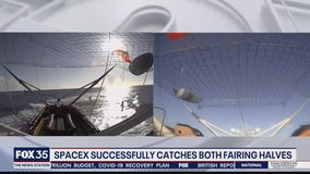 SpaceX successfully catches both fairing halves