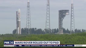 Mars rover rolled out to pad