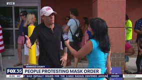 People protesting mask order in Seminole County