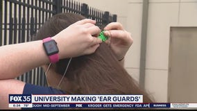 Stetson University making ear guards for face masks