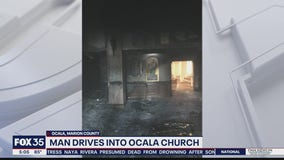 Man crashes car into Ocala church, deputies say