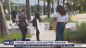Young 'Black Lives Matter' protest