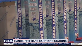 Hands-free sanitizing stations installed at game maker's warehouse