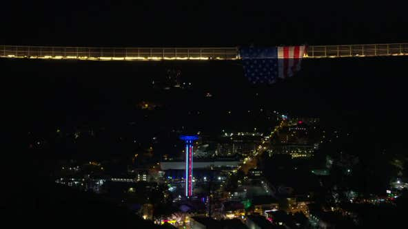 Gatlinburg SkyBridge celebrates Fourth of July with massive American Flag