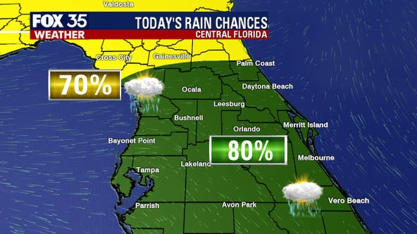 Heavy rainfall, lightning forecasted in Central Florida on Monday as the tropics heat up