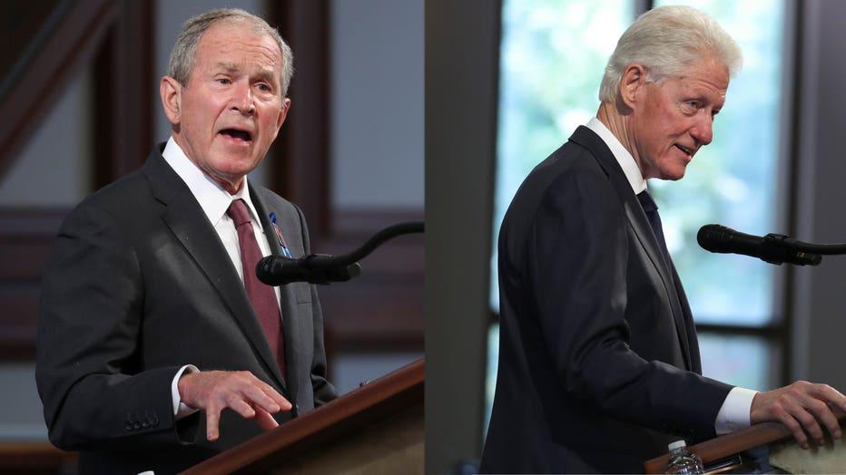 Bush Clinton GETTY