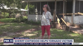Sheriff Chitwood helping victim of DeLand tornado