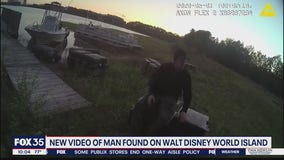 Video shows man on private Disney island