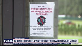 Sheriff says deputies, visitors not allowed to wear masks