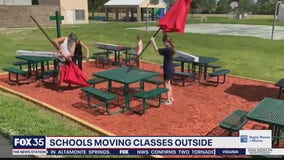 Schools moving classes outside