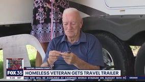 Homeless veteran gets travel trailer