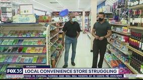Convenience store in tourist district struggling