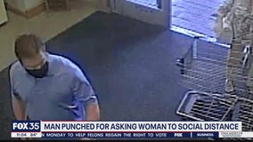 Man punched for asking woman to social distance