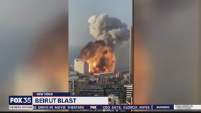New video of massive explosion in Beruit