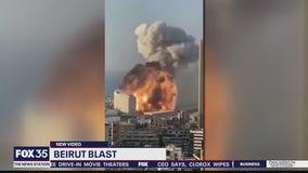 New video of massive explosion in Beruit