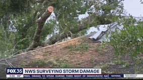 NWS surveying damage from EF-2 tornado in DeLand